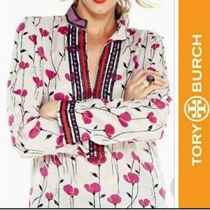 Tory Burch poppy flower tunic
